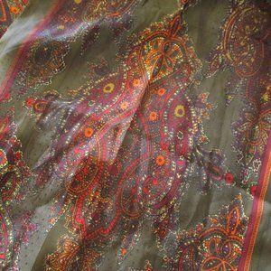 Olive & orange paisley scarf